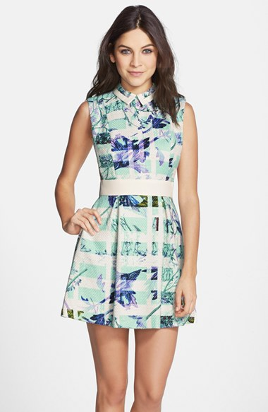 Bcbgeneration Print Woven Fit & Flare Dress