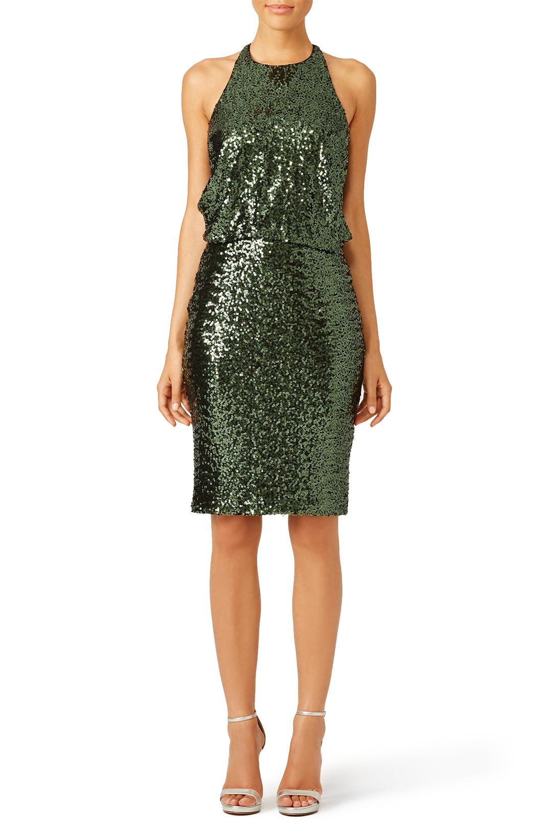 Badgley Mischka - Evergreen Sequin Dress