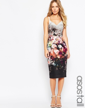 Asos Tall Floral Hitchcock Dress