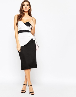 Tfnc Contrast Bandeau Midi Dress