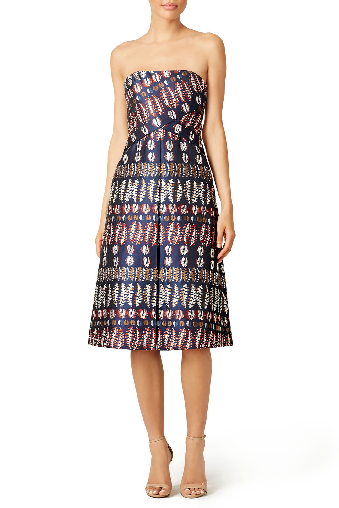 Tory Burch - Metallic Jacquard Dress