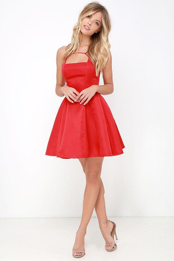 Gift Of Rhyme Red Skater Dress