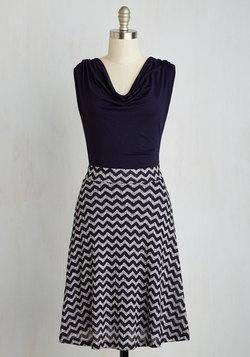 Pretty Packages Dress In Navy Stripes