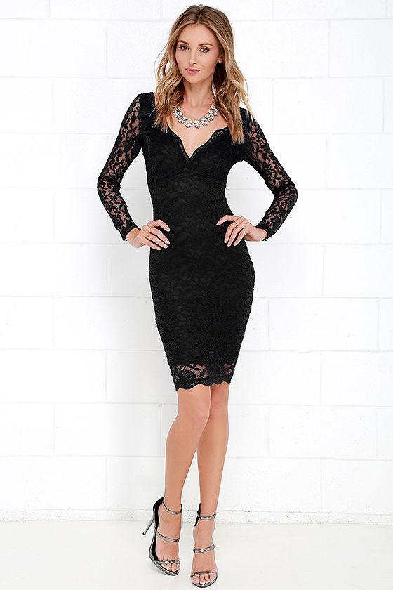 Date Night Black Lace Dress