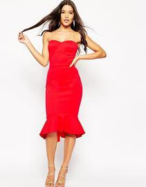 Sorella wine red strapless maxi dress