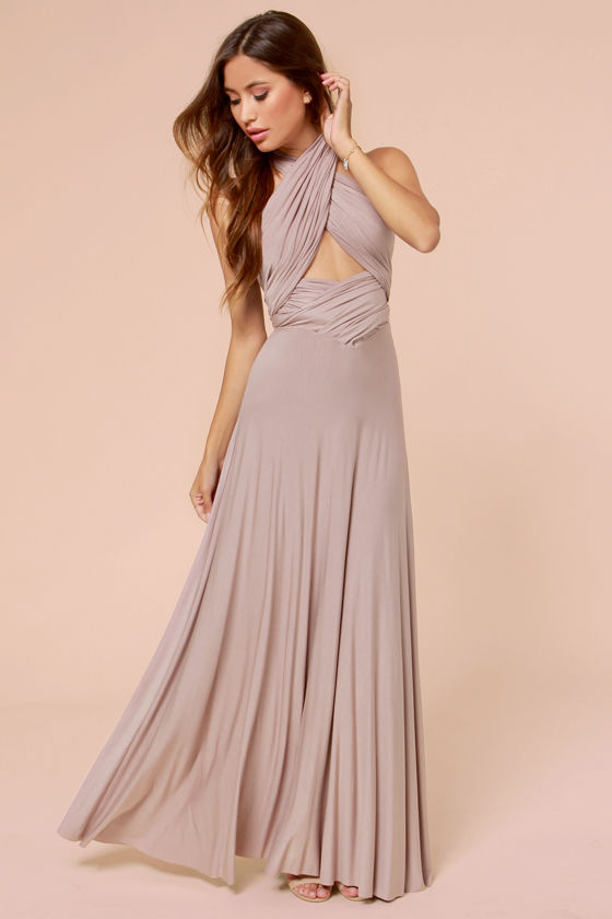 Taupe maxi dress